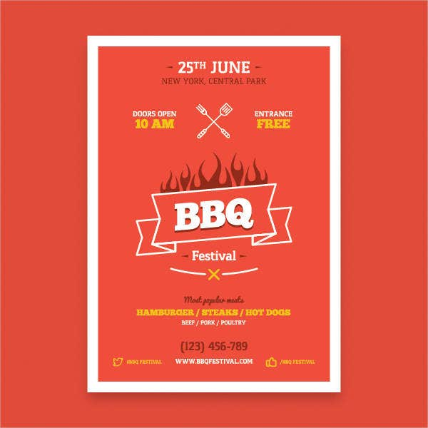 Free BBQ Poster Template