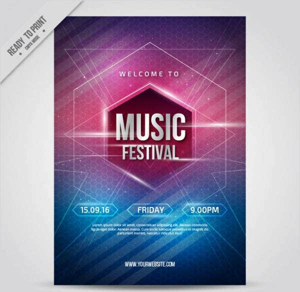 Free poster templates 9 free psd vector ai eps format for Free downloadable poster templates