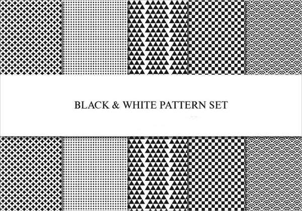 Black and white Pattern Design