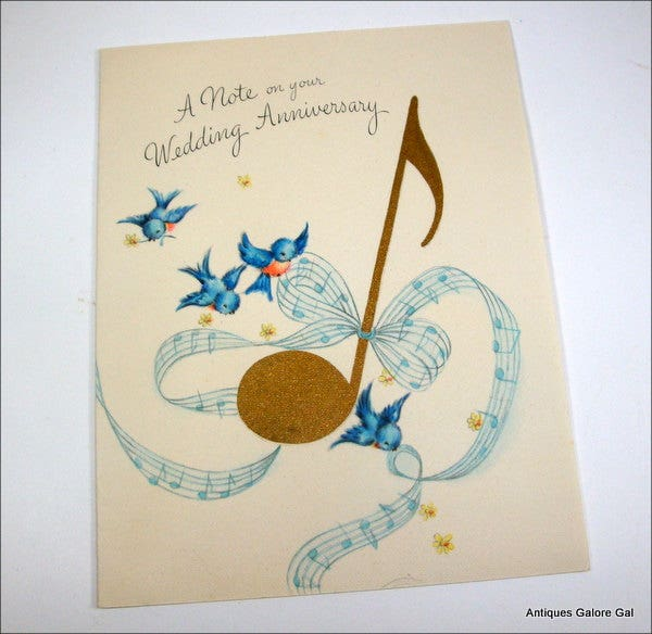 musical wedding anniversary greetings