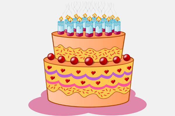 Anniversary Cake Clip Art