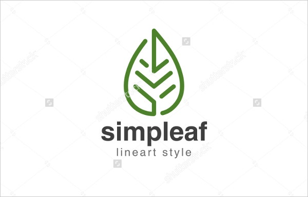Vector Leaf Logo Design