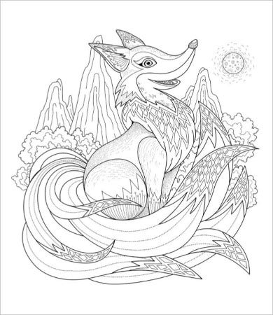 free printable animal coloring pages for adults