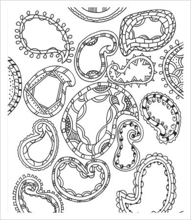 free printable paisley adult coloring pages