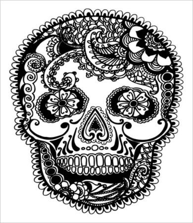 free printable adult coloring pages of skull