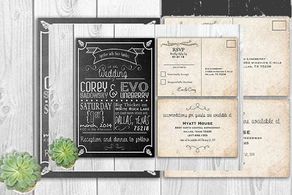 free chalkboard wedding printable