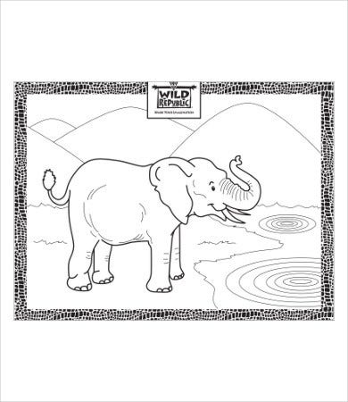 free printable adult coloring pages of elephant1