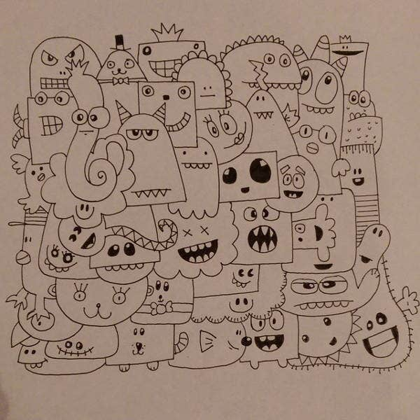 Funny Doodle Drawing