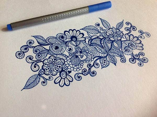 Flower Doodle Drawing