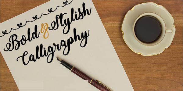 free-calligraphy-bold-font