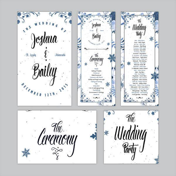 Free Wedding Program Templates 9 Free Psd Vector Ai Eps