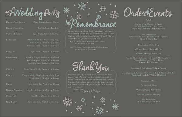 free tri fold wedding program template2