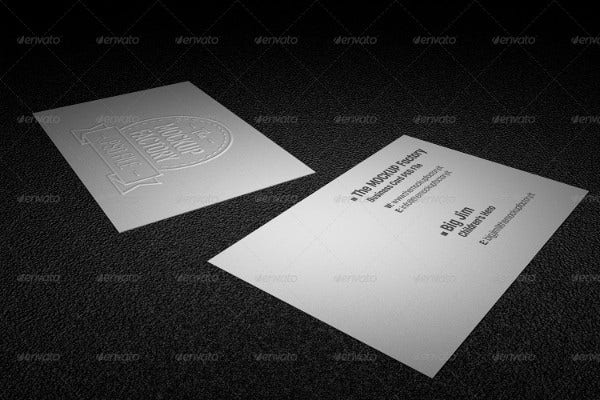 Photorealistic Embossed Business Card