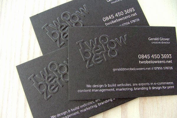Nice Embossed Business Card