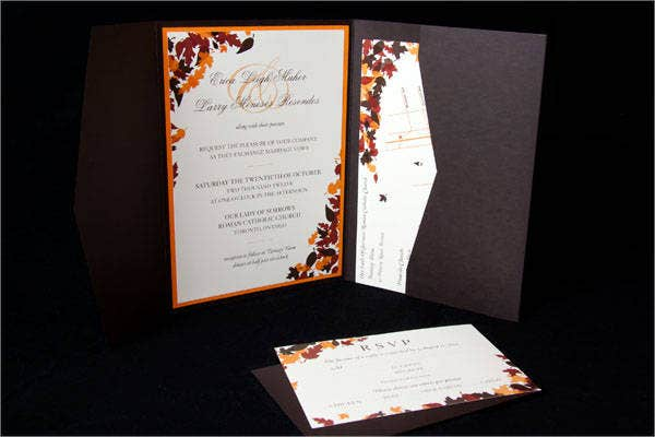 free fall wedding program template