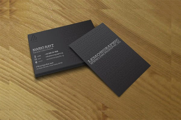 Feee Download Embossed Business Card