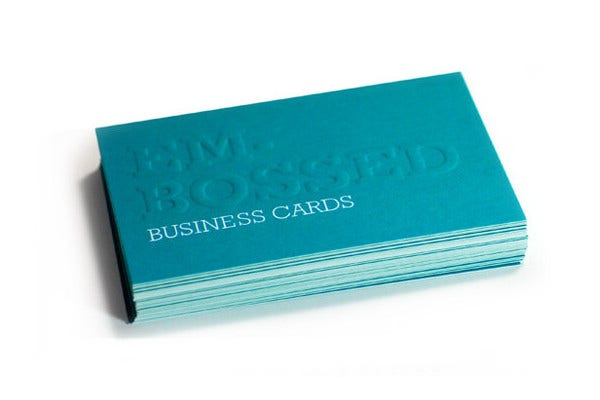 Custom Embossed Business Card