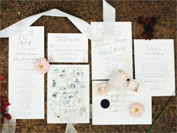 free-floral-wedding-program-template