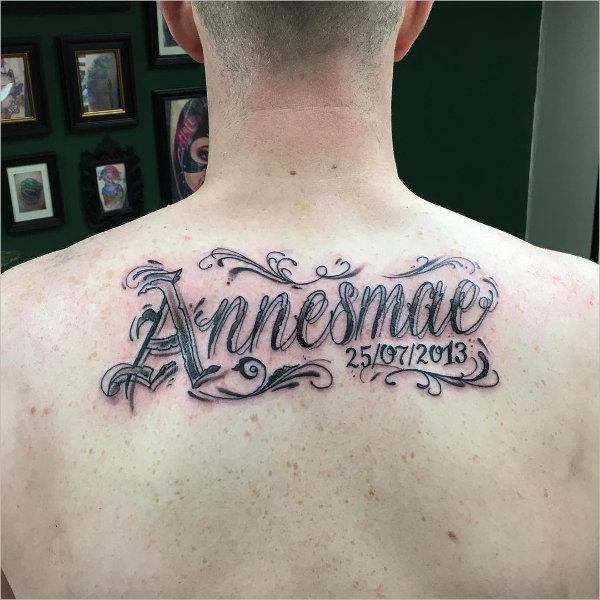 Cool Name Tattoo Design