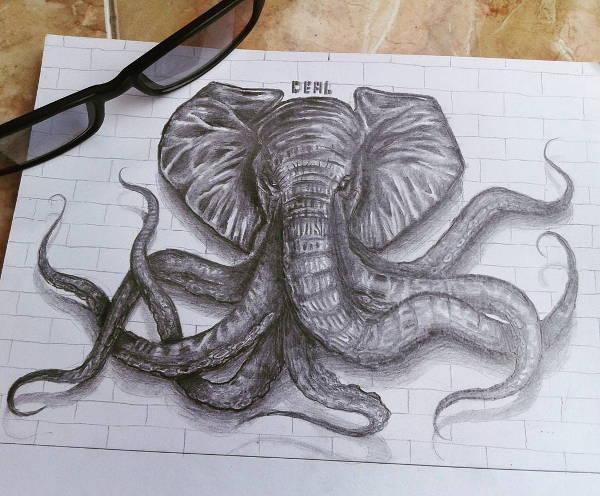 animal art drawing