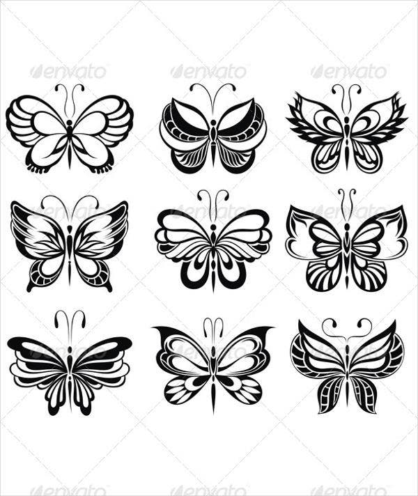 butterfly templates 8 free psd vector ai eps format download free premium templates. Black Bedroom Furniture Sets. Home Design Ideas