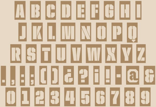 photo relating to Free Printable Stencils to Cut Out identified as Totally free Printable Letter - 9+ Cost-free JPG, PNG Structure Down load