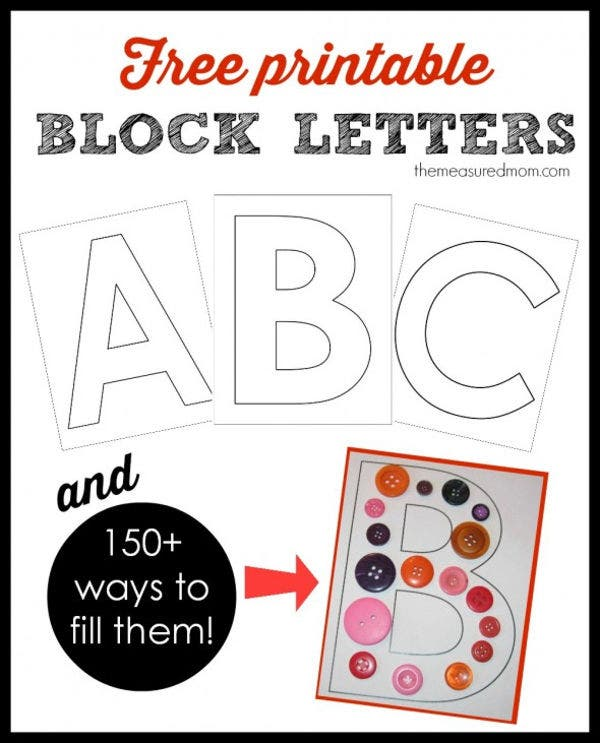 Free Printable Block Letters