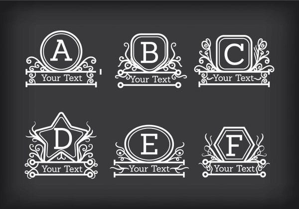 Free Monogram Printable Letters