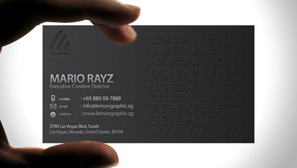 embossedbusinesscards