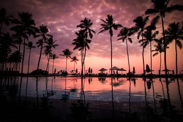 beach silhouette photography