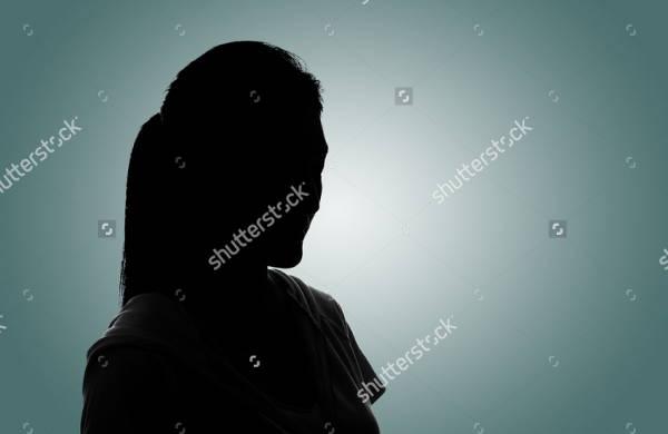 silhouette portrait photography