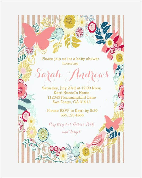 Butterfly Invitation Templates 10 Free Psd Vector Ai Eps Format