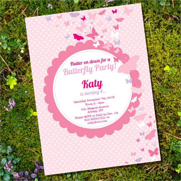 butterfly party invitation template