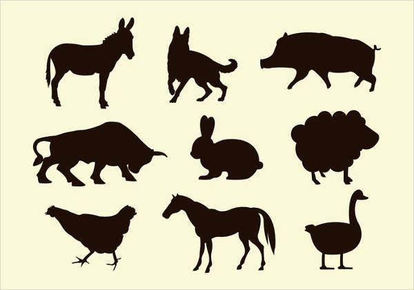 farm-animal-silhouette
