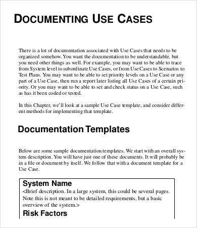 Use Case Template 9 Free Word Pdf Documents Download Free