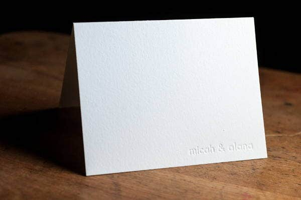 Letterpress Monogram Thank You Card