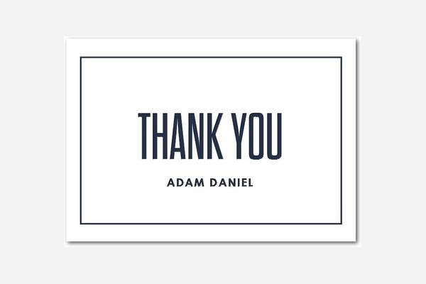 Personalized Letterpress Thank You Card