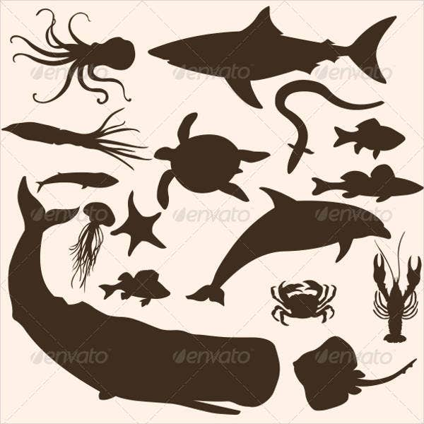 sea-animal-silhouette