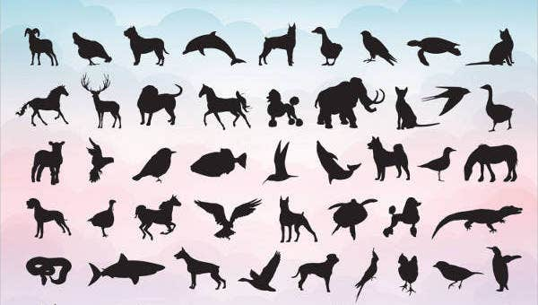 picture regarding Free Printable Forest Animal Silhouettes identify Animal Silhouettes - 9+ Free of charge PSD, Vector AI, EPS Layout