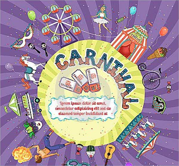 Carnival Invitation vector Template