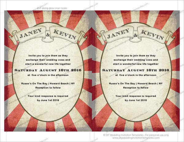 Carnival wedding Invitation Template