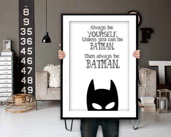 Batman Poster with Inspirational Quote