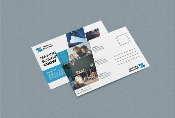 printable business postcard template