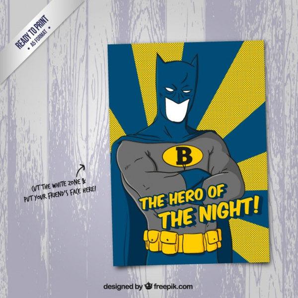 Cartoon Batman Poster Design