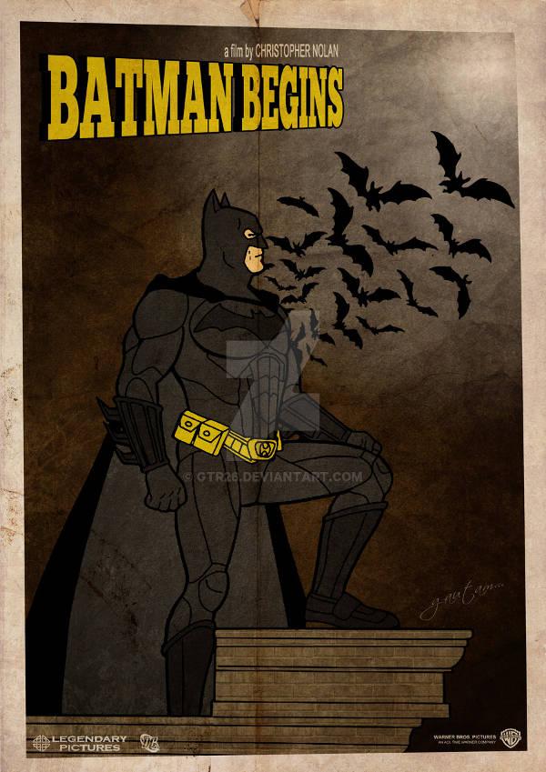 Batman Begins Vintage Poster