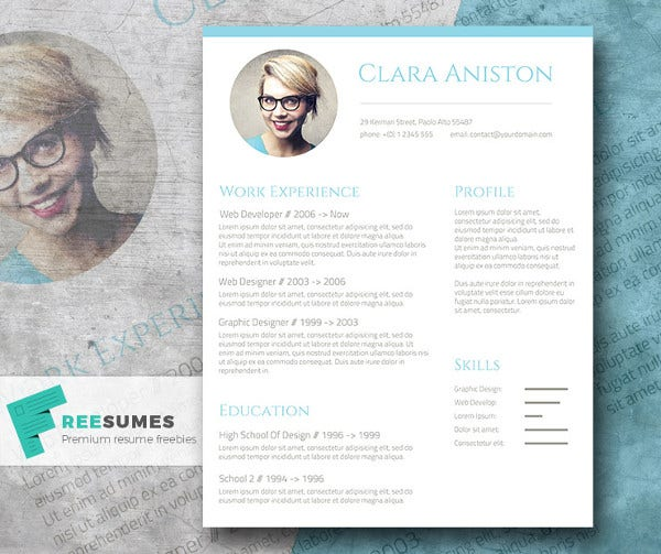 Free Photo Resume Template