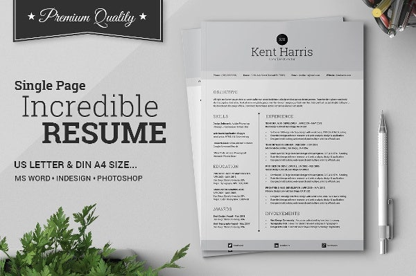 Single Page Resume Bundle