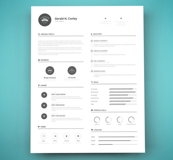 Standard 8.5 x 11 Resume Template