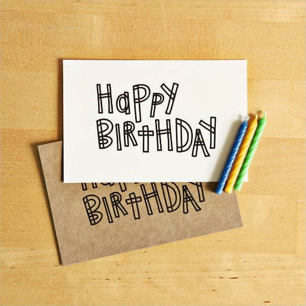Printable Birthday Card Template  Printable Birthday Card Template