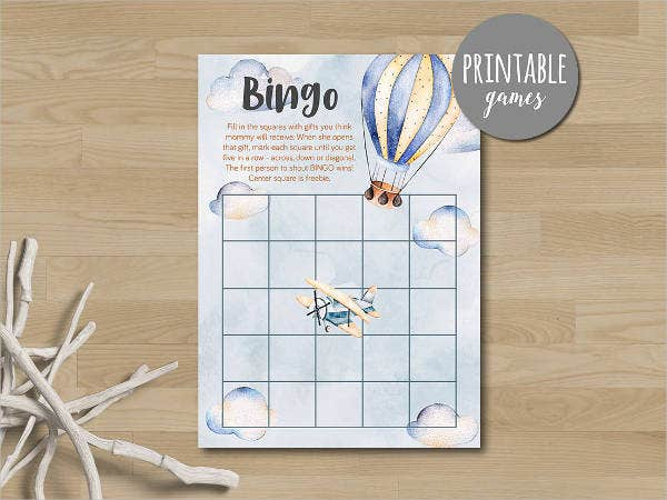 printable bingo card template